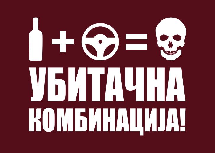 У току кампања ''Алкохол + волан = убитачна комбинација''